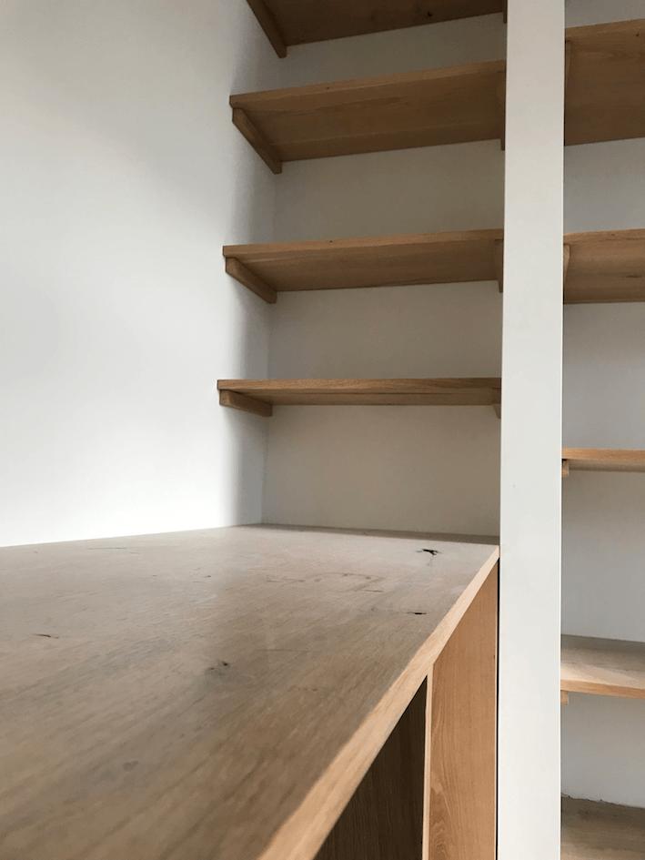 Eiken houten inbouwkast op maat